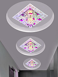 cheap -1-Light 18 cm LED / Color Gradient Flush Mount Lights Crystal Crystal / Mini Painted Finishes LED Generic