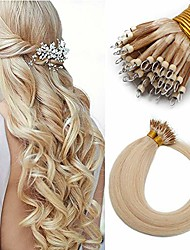 cheap -pre bonded nano ring extensions 1g/s nano ring 50g cold fusion keratin bondings 18 inches #60 platinum blonde [100% real remy human hair]