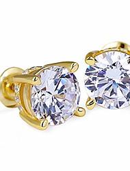 cheap -krkc&co mens earrings, s925 sterling silver hypoallergenic earrings, 14k gold micro pave 5a cz stones earrings, hip hop street-wear rapper stud earring for dating party