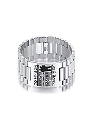 """cheap -stainless steel love dad to my son bracelets always remember you are braver inspirational quote wristband for son,8.2"""" ,silver"""