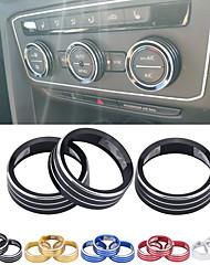 cheap -Air Conditioning Knob Decorative Cover Ring Adjust Trim Cover For VW Tiguan Atlas T-roc Ateca FR Passat B8 Variant 2017-2019