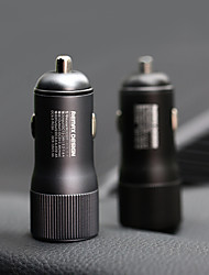 cheap -REMAX Car Charger QC3.0 Metal Aluminum Alloy Car Charger Dual Port Output 2.4A Fast Charge