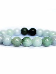 cheap -authentic beaded elastic bracelet, bead bracelet designed for good fortune courageous lucky and wealth (dark green -19)