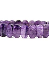 cheap -natural gray cloud quartz gemstone 14mm faceted oval beads elastic bangle 7 inch unisex