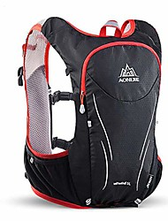 cheap -hydration pack backpack marathoner running race hydration vest running hiking backpack with hydration pack (black, s/m with bladder)