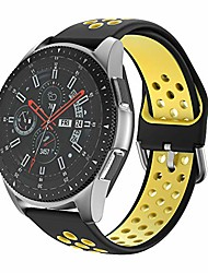 cheap -ishim watch strap for galaxy watch 46mm, 22mm soft silicone sport wristband for galaxy watch 3 45mm r850/gear s3 frontier/ticwatch pro smart watch/vivoactive 4/garmin active-black/yellow