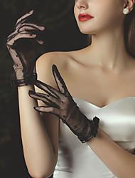 cheap -Lace Suit Length Glove Vintage Style / Elegant With Trim