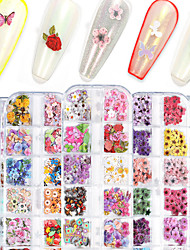 cheap -1 Set Nail Nail Wood Pulp Piece Flower Butterfly Maple Leaf Ultra-thin Christmas Halloween Nail Box Decoration 240pcs