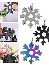 cheap -18 in 1 Snowflake Tool Card Multi-Function Wrenches Combination Portable Hex Wrench Multifunction Camp Survive Outdoor Tool 3pcs