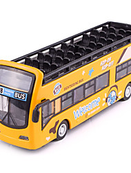 cheap -1:50 Toy Car Model Car Bus Classic Music & Light Pull Back Vehicles Metal Alloy Mini Car Vehicles Toys for Party Favor or Kids Birthday Gift 1 pcs