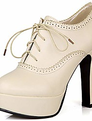 cheap -vintage wingtip platform oxfords brogues shoes for women lace up chunky high heels pumps ankle booties