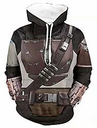 cheap -mandalorian hoodie men's sweatshirt 3d print mandalorian pullover hoodie costume brown