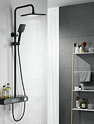 cheap -Thermostatic Bathroom Shower Mixer with LED light and Temperature Display