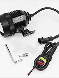 cheap -Motorcycle Spotlight 12V 30W Adjustment Laser Barrel External Spotlight Integrated LED Lamp Motorbike External Headlight