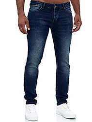 cheap -jeans men slim fit jeans trousers stretch designer trousers denim 502 (30-32, 502-4 dark blue)