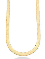 cheap -miabella solid 18k gold over sterling silver italian 10mm flat herringbone chain necklace for women men 17, 18, 20, 22 inch 925 made in italy (17 inches)