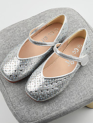 cheap -Girls' Flats Princess Shoes PU Little Kids(4-7ys) Big Kids(7years +) Daily Walking Shoes Gold Silver Spring Fall