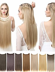 cheap -Synthetic Extentions Straight Synthetic Hair 14 inch 16 inch 18 inch Hair Extension Micro Ring Hair Extensions Multi-color 1 Piece Easy dressing Comfortable Halo Extensions Women's Daily Wear