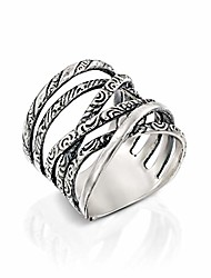 cheap -paz creations 925 sterling silver multi-texture highway ring (8), made in israel