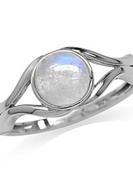 cheap -june birthstone natural moonstone 925 sterling silver solitaire ring size 11.5