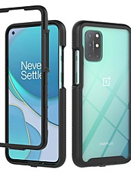 cheap -Case For OnePlus 8 / OnePlus 8 Pro / OnePlus 8T / OnePlus Nord Shockproof Dustproof Back Cover Transparent Solid Colored TPU PC