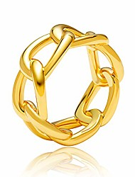 cheap -link chain cuban band ring for women 18k gold plated wedding engagement jewelry size 7