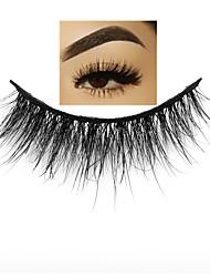 cheap -Makeup Eyelashes 3D Mink Lashes Fluffy Soft Wispy Volume Natural long Cross False Eyelashes Eye Lashes Reusable Eyelash