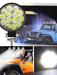 cheap -1Pcs 42W 14LED Work Light LED Car Front Fog Light For Truck SUV  Engineering Headlights Off-road LED Round Headlamp