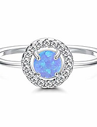 cheap -925 sterling silver opal rings 18k gold plated halo band rings adjustable stacking rings for women