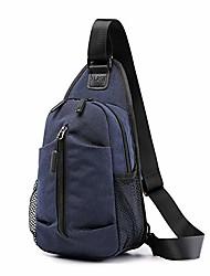 cheap -sling bag chest backpack crossbody bag for casual messenger bag for men and women's bag canvas bag sports outdoor gym travel hiking backpack shoulder bags (blue)
