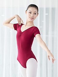 cheap -Ballet Leotard / Onesie Solid Women's Training Performance Short Sleeve Elastane