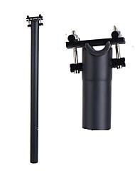 cheap -Bike Seatpost 33.9 mm 33.9 mm 60 mm BMX Folding Bike Cycling Matte Black Fiber Carbon