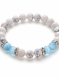 cheap -blue agate stone bracelet anxiety bracelet for women ladies love attraction crystal beads bracelet friendship gifts