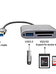 cheap -Usb3.0 to Xqd/sd/usb3.0 Multi-function High-speed Card Reader Three-in-one Reading U Disk Hub3.0