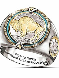 cheap -buffalo nickel honoring the american west alloy coin ring for men viking bull stainless steel ring (9)