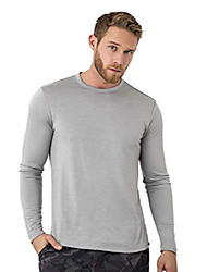 cheap -merino wool base layer - mens 100% merino wool long sleeve thermal shirts lightweight, midweight, heavyweight (xx-large, grey marl)