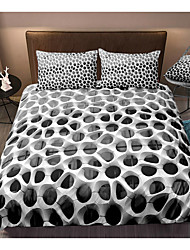 cheap -3D Hole Print Honeycomb 3-Piece Duvet Cover Set Hotel Bedding Sets Comforter Cover with Soft Lightweight Microfiber For Holiday Decoration(Include 1 Duvet Cover and 1or 2 Pillowcases)