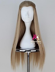 cheap -halloweencostumes Synthetic Wig Legolas Legolas The Lord of the Rings Hobbits Straight Asymmetrical Wig Long Blonde Synthetic Hair 30 inch Men's Cosplay Cool Blonde