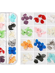cheap -12 Types Nail Art Dry Flower 3D Three-dimensional Flower Set Real Dry Flowers Nail Decoration Manicure Art DIY Nail Design Nail Art