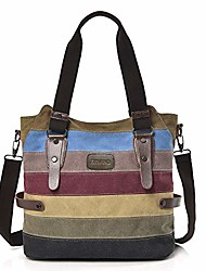 cheap -women's handbag, arvano ladies multi-color canvas shoulder bags, large tote hobo handbags,cross body bag