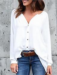 cheap -Women's Plus Size Tops Blouse Patchwork Plain Large Size V Neck Long Sleeve Big Size