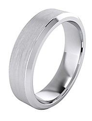 cheap -heavy solid sterling silver 6mm flat court shape matt centre polished bevel edges mens wedding ring plain band (8)
