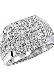 cheap -mens pinky rings diamond band 10k gold square shape 1ctw (white gold, size 11.5)