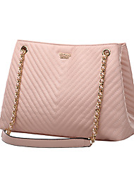 cheap -Women's Bags PU Leather Crossbody Bag Chain Embossed Plain Daily Going out 2021 Handbags Black Blushing Pink