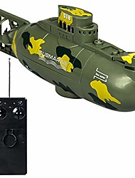 cheap -remote control submarine boat, mini rc water boat toy plastic race boat model ship electronic waterproof diving in pools lake ponds toy gift (green)
