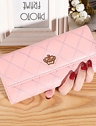 cheap -Women's Bags PU Leather Wallet Embossed Print Plain 2021 Daily Date Watermelon Red Red Brown Black Yellow