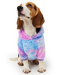 cheap -Dog Hoodie Yarn Dyed Patchwork Color Block Unique Design Fashion Party Casual / Daily Winter Dog Clothes Puppy Clothes Dog Outfits Breathable Blue Costume for Girl and Boy Dog Flannel Fabric S M L XL