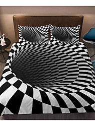 cheap -3D Vortex 3-Piece Duvet Cover Set Hotel Bedding Sets Comforter Cover with Soft Lightweight Microfiber, Include 1 Duvet Cover, 2 Pillowcases for Double/Queen/King(1 Pillowcase for Twin/Single)