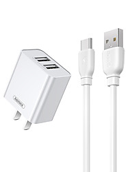 cheap -Remax Fast Charger Type C Charger Kit Quick Charging 2 in 1 Fast Charge TypeC Data Cable Line Travel Adapter for Samsung S21 S20 S10 A52 A12 Xiaomi Huawei Oneplus Smart Devices Type-C Line and Charger