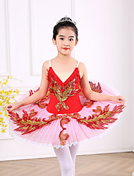 cheap -Ballet Dress Appliques Girls' Training Performance Sleeveless High Polyester